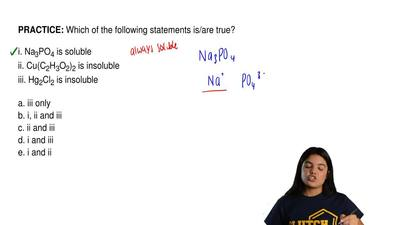 Which of the following statements is/are true?  i. Na3PO4 is soluble ii. Cu(C2...