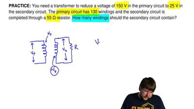 You need a transformer to reduce a voltage of 150 V in the primary circuit to ...
