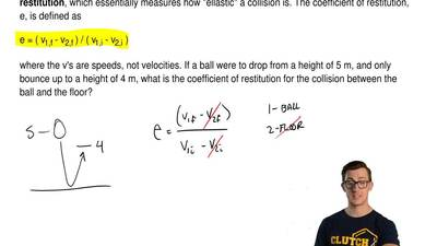 An important quantity to know during an inelastic is known as the  coefficient...