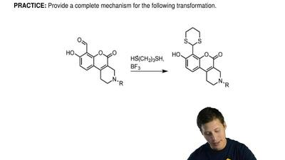 Provide a complete mechanism for the following transformation. ...