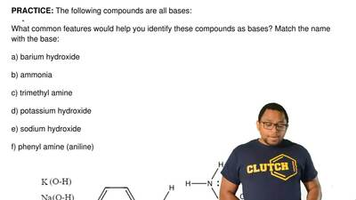 The following compounds are all bases:  What common features would help you id...