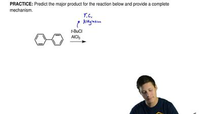 Predict the major product for the reaction below and provide a complete mechan...