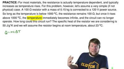 For most materials, the resistance is actually temperature dependent, and typi...