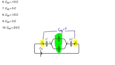 Consider the group of capacitors shown in the figure. Find the equivalent capa...