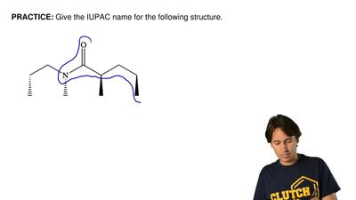 Give the IUPAC name for the following structure.  ...