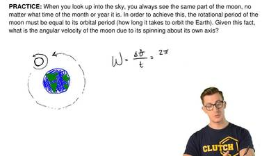 When you look up into the sky, you always see the same part of the moon, no ma...