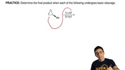 Determine the final product when each of the following undergoes basic cleavag...
