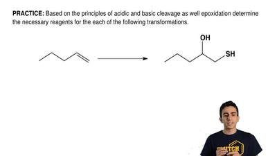 Based on the principles of acidic and basic cleavage as well epoxidation deter...