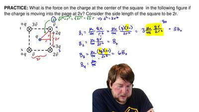 What is the force on the charge at the center of the square in the following ...