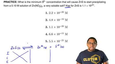 What is the minimum S2− concentration that will cause ZnS to start precipitati...
