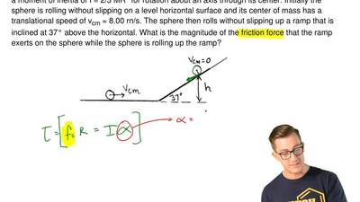 A thin-walled hollow sphere with mass M = 2.00 kg and radius R = 0.05 00 m has...