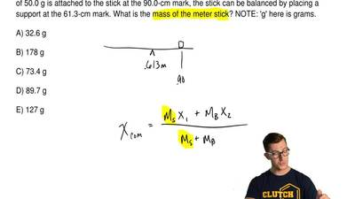 A meter stick can be balanced by placing a support at the 50.0-cm mark. If a m...
