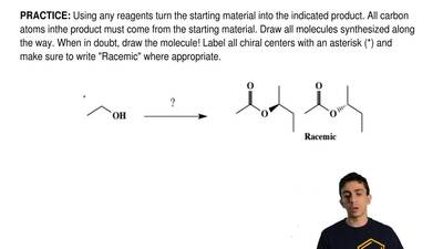 Using any reagents turn the starting material into the indicated product. All ...