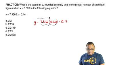 What is the value for y, rounded correctly and to the proper number of signifi...