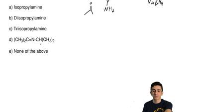What is the result of treating acetone with isopropylamine and NaBH3CN?  a) I...