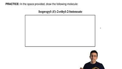 In the space provided, draw the following molecule: ...