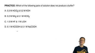 Which of the following pairs of solution does not produce a buffer?  A. 0.3 M ...
