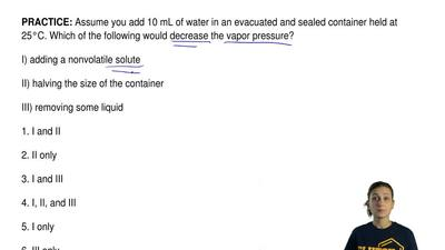 Assume you add 10 mL of water in an evacuated and sealed container held at 25°...
