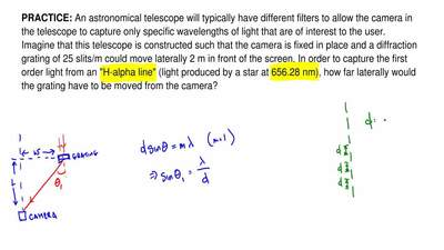 An astronomical telescope will typically have different filters to allow the c...
