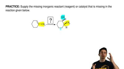 Supply the missing inorganic reactant (reagent) or catalyst that is missing in...