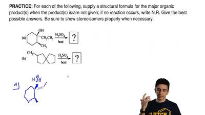 For each of the following, supply a structural formula for the major organic p...