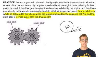 In cars, a gear train (shown in the figure) is used in the transmission to all...