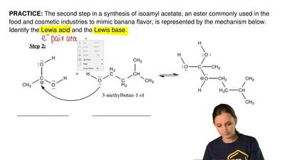 The second step in a synthesis of isoamyl acetate, an ester commonly used in t...