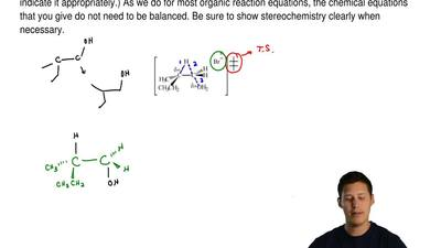 Provide an organic reaction in which the given intermediate or transition-stat...