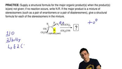Supply a structural formula for the major organic product(s) when the product(...
