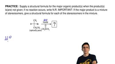 Supply a structural formula for the major organic product(s) when the product...