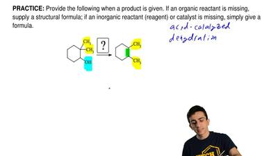 Provide the following when a product is given. If an organic reactant is missi...