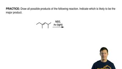 Draw all possible products of the following reaction. Indicate which is likely...