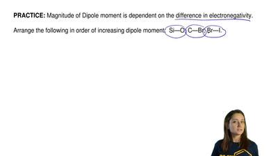 Magnitude of Dipole moment is dependent on the difference in electronegativity...