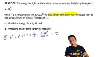 The energy that light carries is related to the frequency of the light by the ...