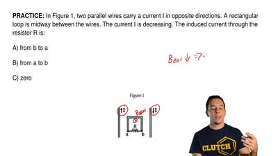 In Figure 1, two parallel wires carry a current Iin opposite directions. A re...