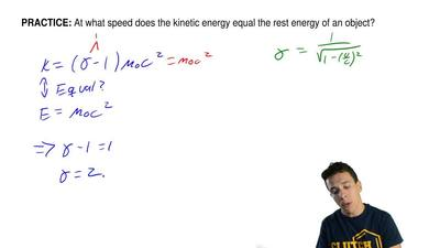 At what speed does the kinetic energy equal the rest energy of an object? ...