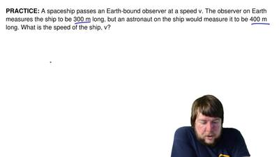 A spaceship passes an Earth-bound observer at a speed v. The observer on Earth...