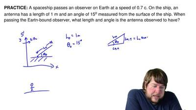 A spaceship passes an observer on Earth at a speed of 0.7 c. On the ship, an a...