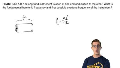 A 0.7 m longwind instrument is open at one end and closed at the other. What ...