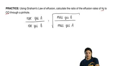 Using Graham's Law of effusion, calculate the ratio of the effusion rates of H...