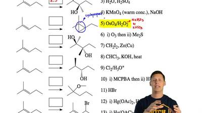 Match the reagents on the right to the reactions on the left and write the num...