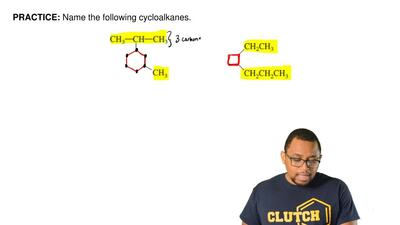 Name the following cycloalkanes.  ...