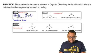 Since carbon is the central element in Organic Chemistry the list of hybridiza...