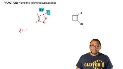 Name the following cycloalkenes ...