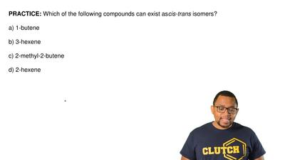 Which of the following compounds can exist as cis-trans isomers?   a) 1-butene...