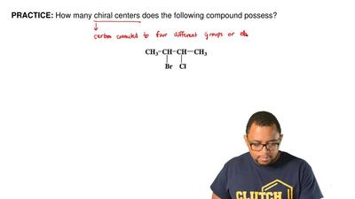 How many chiral centers does the following compound possess?   ...