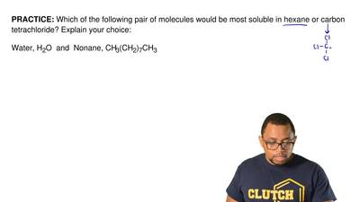 Which of the following pair of molecules would be most soluble in hexane or ca...