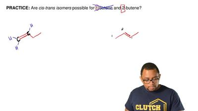Are cis-trans isomers possible for 1-butene and 2-butene?  ...