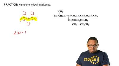 Name the following alkanes.  ...