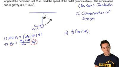 A bullet of mass 24 g is fired into the bob of a ballistic pendulum of mass 2....